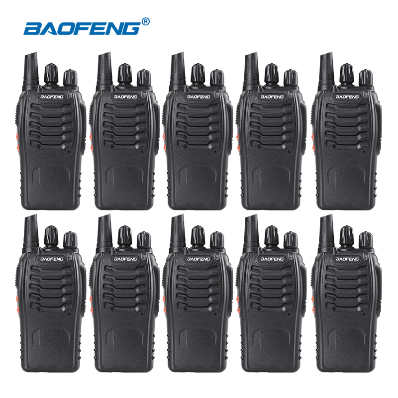 10PCS/lot Baofeng BF-888S Walkie Talkie 5W Handheld Walkie Talkie Bf 888s UHF 400-470MHz 16CH Two Way Raio Portable Transceiver