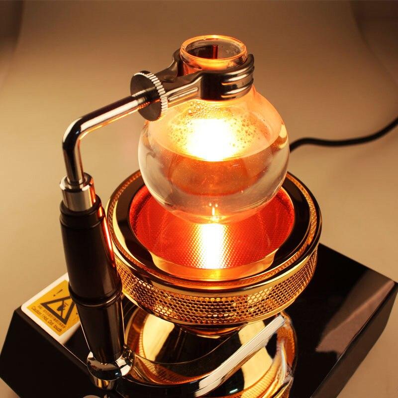 Высокое качество, 3 головки, 400 Вт, 220 В, галогенный балочный нагреватель, горелка, инфракрасный нагреватель для кофемашины Hario Yama Syphon - 4