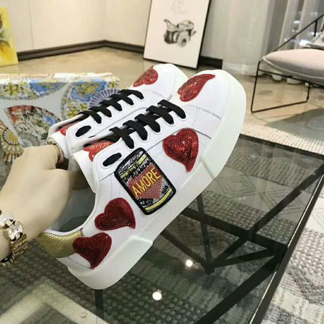 De Étoiles Blanc as Sho Casual Femmes Show forme Plate Épaisses As Show Nouveau Cuir Ronde Mode Semelles Fond Chaussures Tête En Rouge À qIxP1w