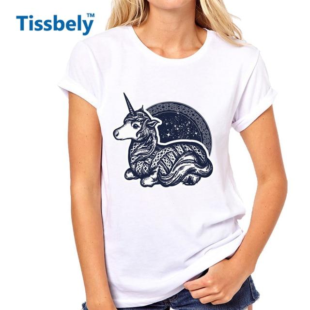 Tissbely Unicorn T Shirt Women Symbol Of Dreams Tales Fantasies
