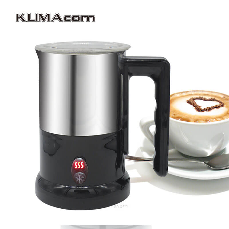Electric Milk Frother for Coffee/cafe Stainless Steel Foam Machine Automatic Best Bubble Maker Milk Heating 220V 500W VDE Plug 220v commercial single double head milkshake machine electric espresso coffee milk foam frother machine bubble maker