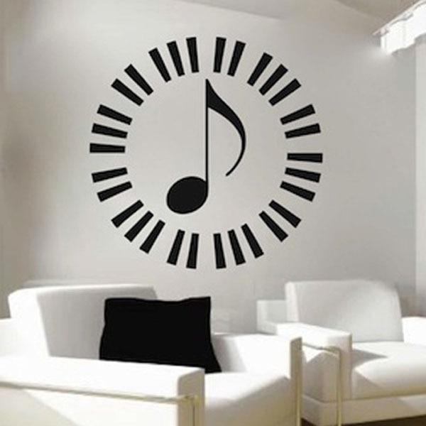 home decoration vinyl wall art music notes piano keyboard classroom