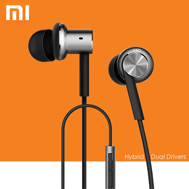 Original for XiaoMi Mi IV In-Ear Wired Hybrid Earphones Control with Mic for Android iOS for  Mobile phone MI3 MI4 MI5 Redmi