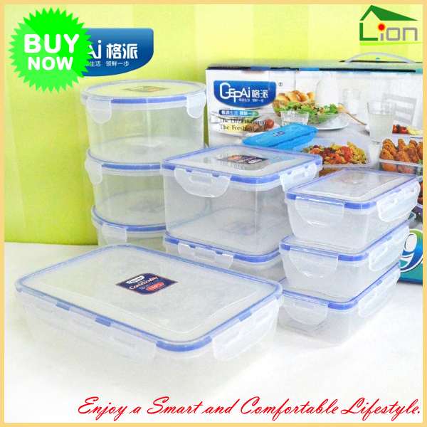 [Home Kitchen Essentials] New 9 Pcs Clear Plastic BPA Free Food Storage  Container Set