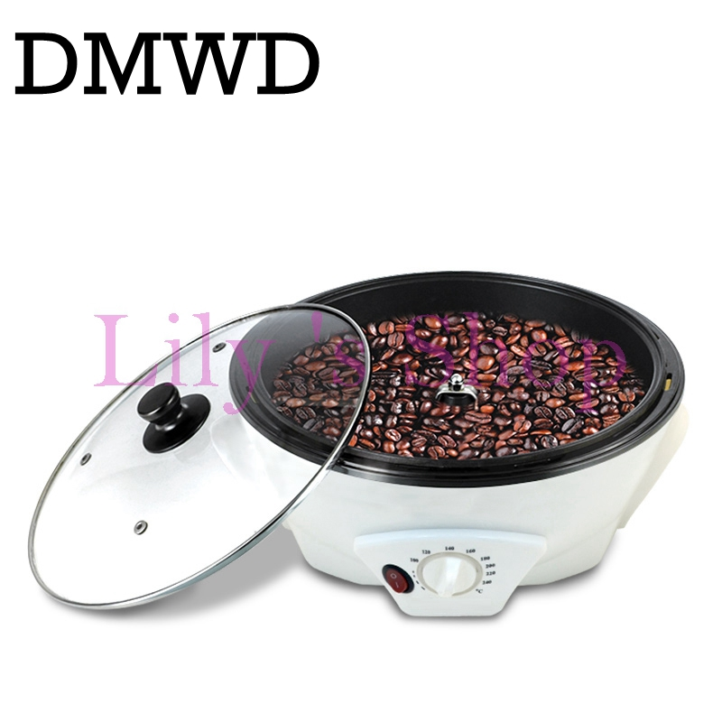 DMWD 110V/220V Electric Coffee Bean Baked Roaster Peanut Beans Baking Dryer Roasting Machine Cafe Grain Drying Stove EU US Plug