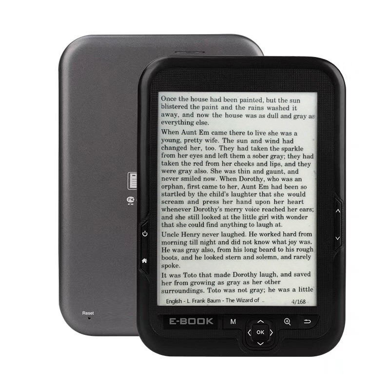 6 inch e INK electronic ink screen digital ebook reader Built-in 16GB Support micro SD card Extended Built-in Li-ion batter electronics
