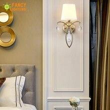 (E14 הנורה עבור משלוח) מודרני קיר מנורת ברזל led קיר אור עבור בית/סלון wandlamp מדרגות led אור בד צל קיר פמוטים