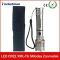 Cree xml t6 фонарик мощный Масштабируемые водонепроницаемый светодиодный фонарик lanterna кемпинг вспышка света С Портативный Рукава