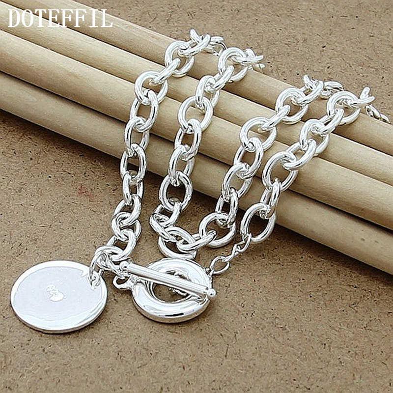 Luksusowa marka 925 kolor srebrny serce naszyjnik charms kobieta mężczyzna naszyjnik Fine Jewelry naszyjnik hurtownie darmowa wysyłka gorąca sprzedaż