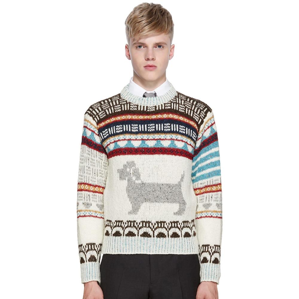 ECTIC font b Men b font Thickened font b sweater b font Dog printing fashion man