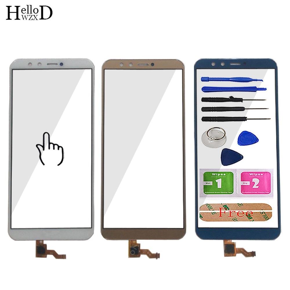 Tela de toque móvel para huawei honor 9 lite LLD L22A LLD L31 touch screen sensor touchscreen frente peças vidro ferramentas adesivo|Painel de toque p/ celular|   -