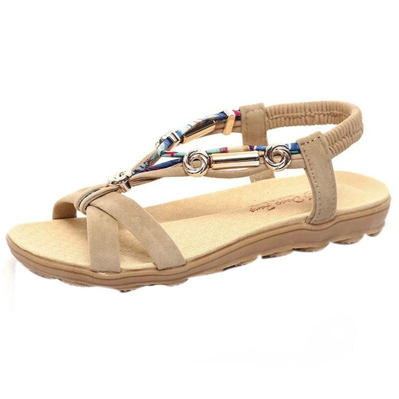 Women's Summer Gladiator Sandals Shoes Peep-toe Low Ankle-Strap Shoes Roman Sandals Ladies Flip Flops cootelili real fur ankle strap gladiator sandals women flats 2017 summer tassel shoes ladies wedding beach sandals bohemian