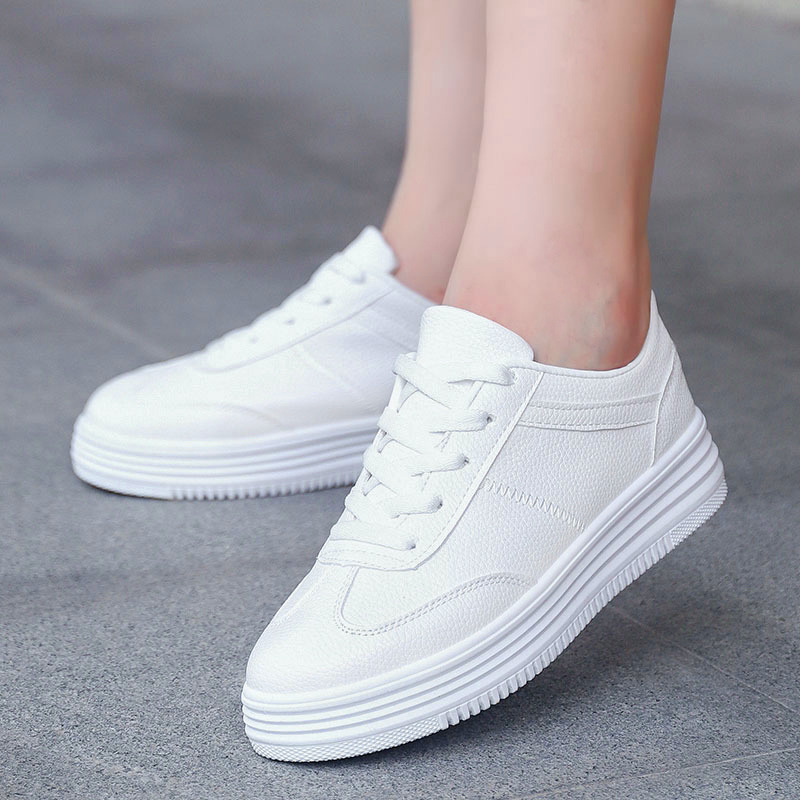 Summer Sneakers Women Trainers White Sneakers Platform Shoes Lace-Up Round Toe Casual Shoes Basket Femme tennis Zapatos Mujer цены онлайн