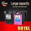 2PK 901 Замена Картриджа для HP 901 XL Чернильные Картриджи для Officejet 4500 J4500 J4550 J4540 J4580 J4680c J4640 принтеры
