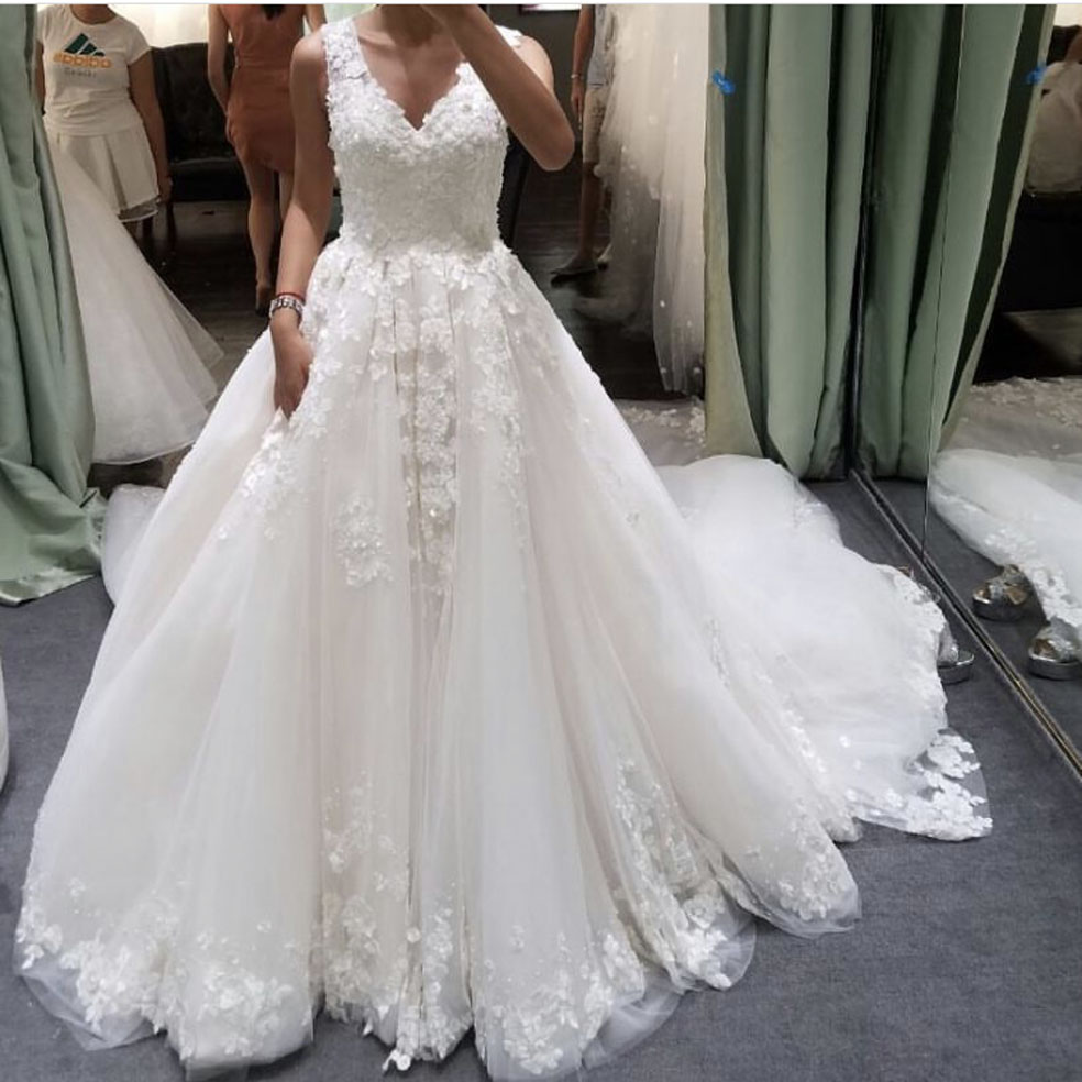 Wedding Selling Wedding Dress popular selling wedding dress buy cheap lots 2017 best dresses v neck appliqued lace sleeveless sweep train a line bridal gown