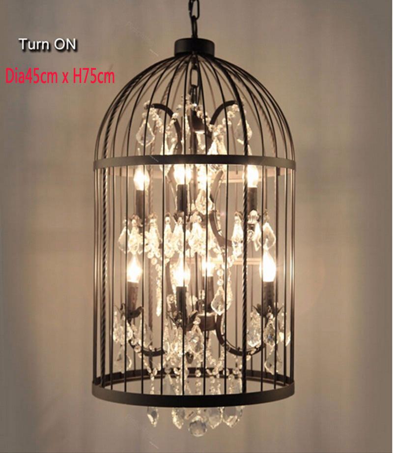 Retro-Lamparas-Black-Decor-American-Vintage-Industrial-Bird-Cage-Pendant-Light-With-Crystal-Ornaments-Nordic-Birdcage116
