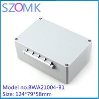 4 개, szomk 인클로저 금속 상자 IP68 알루미늄 접합 상자 124*79*58 미리메터 알루미늄 압출 악기 인클로저
