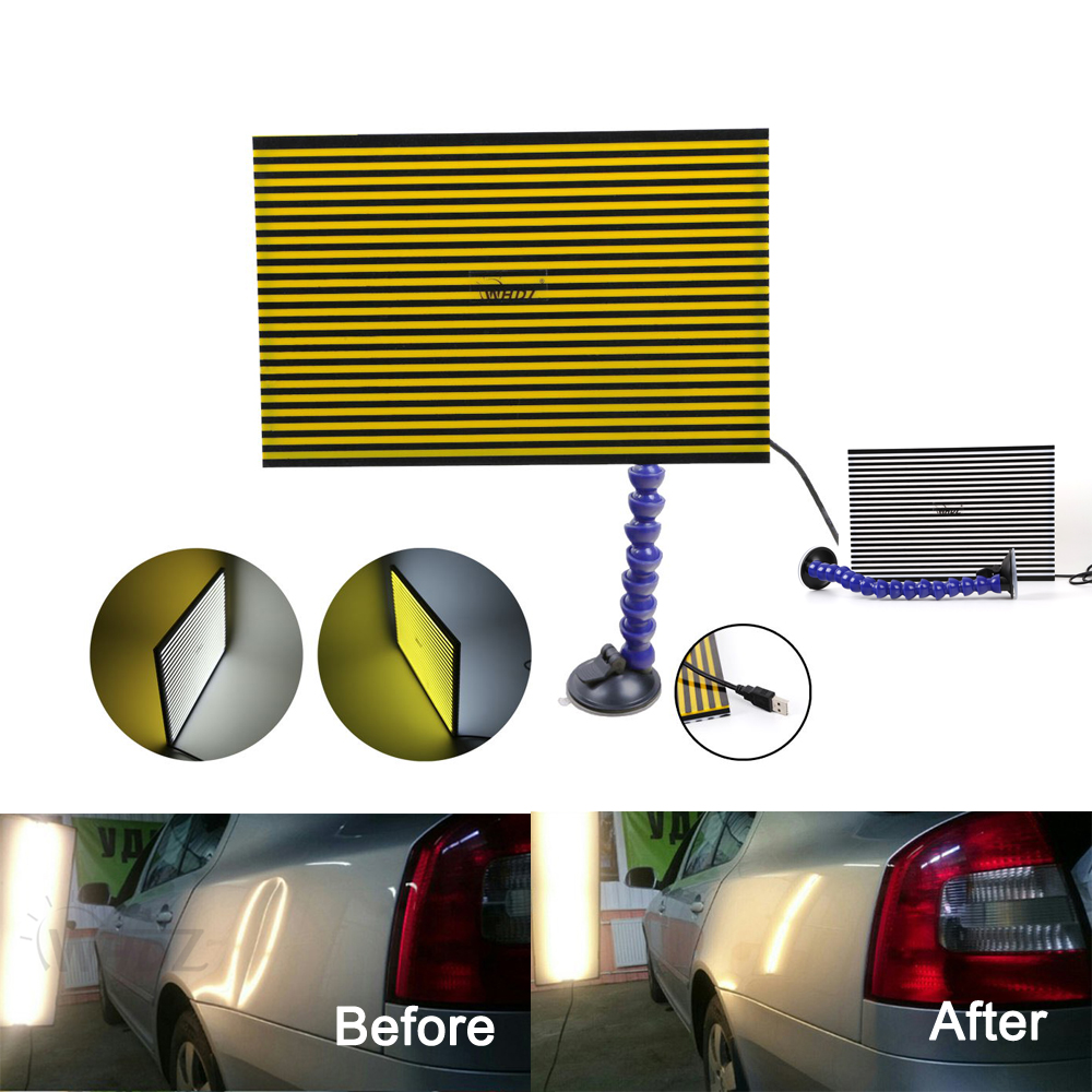 New Lined Dent Reflector Board Panel for Dent Remover Car Body Tools Kit US