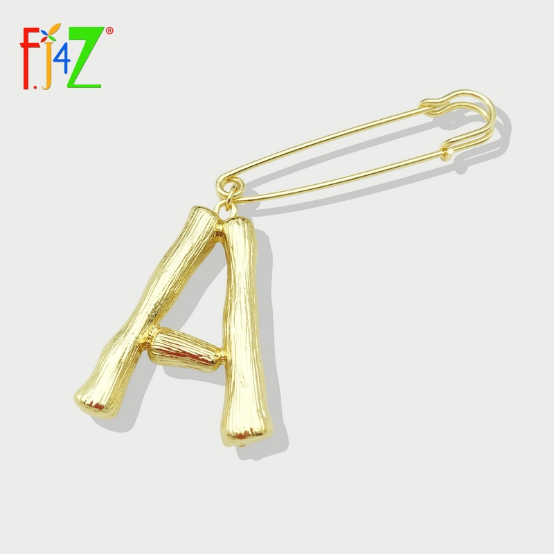 F. J4Z chaud femmes Alphabet broches alliage grand 26 lettres broche broches femelle or initiales accessoires Iniciales broches