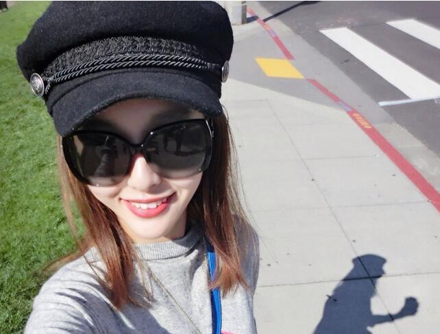 1 Teile/los Kostenloser Versand Frauen Zeitungsjunge Caps Unisex Baumwolle Achteckige Kappe Damen Unisex Retro Flachen Hut