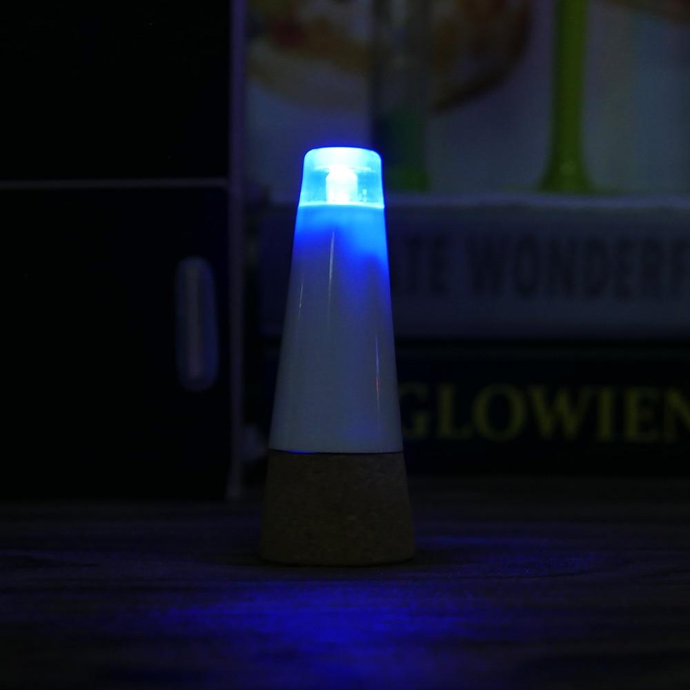 Cork Shaped LED Wine Bottle Stopper Light Lampa nocna USB do - Oświetlenie wakacje - Zdjęcie 6