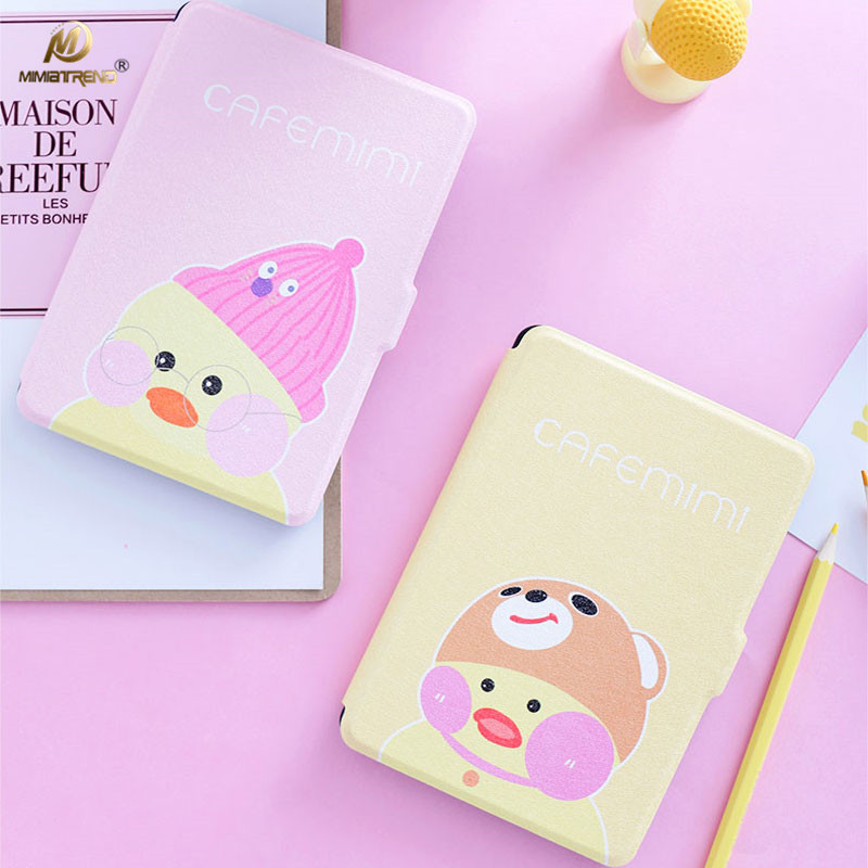 Mimiatrend 3D Cartoon Chick PU Cover for Amazon Kindle Paperwhite 1 2 3 449 558 Voyage Case 6 inch Ebook Tablet Accessories Gift