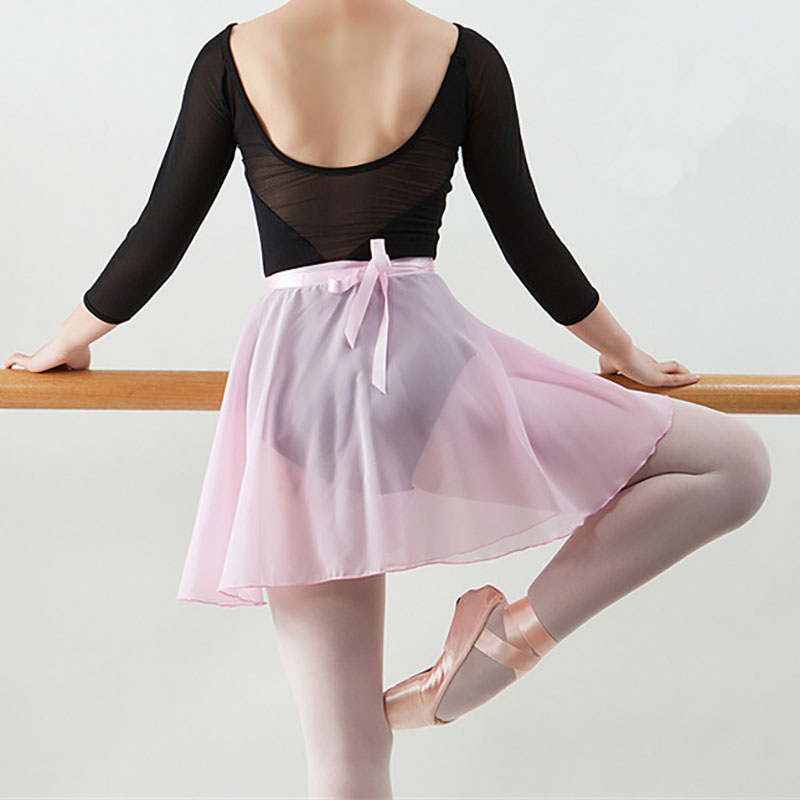 Womens Girl Ballet Latin Tutu Dance Chiffon Skirt Skate Dancewear Costume Dress