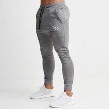 Gris Jogging pantalones rayados correr mallas hombres deportes lápiz pantalones  hombres algodón suave Bodybuilding Joggers gimnasio 0ec06ba2a2c3