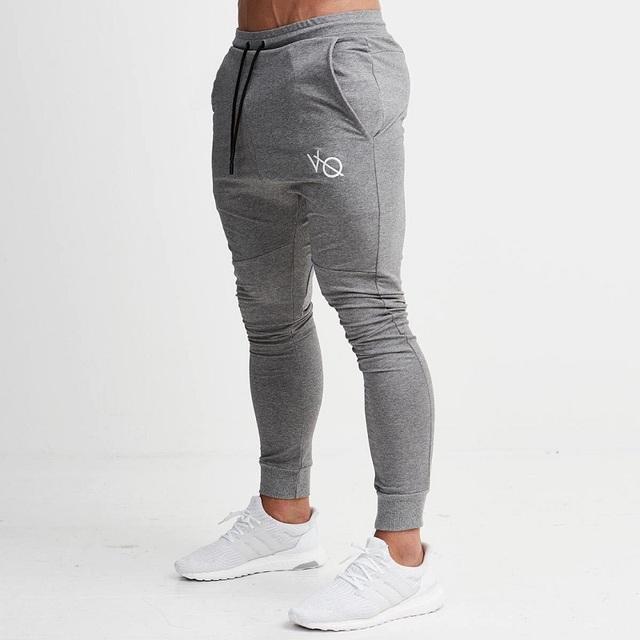 Gray Jogging Pants Striped Running Pants Men Sport Pencil Pants Men Cotton Soft Bodybuilding Joggers Gym Trousers Running Tights