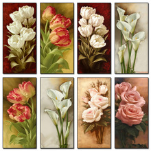 DIY 5D Full circular Diamonds Embroidery Flowers  Painting Cross Stitch Kits Rose & Lily Home Decoration
