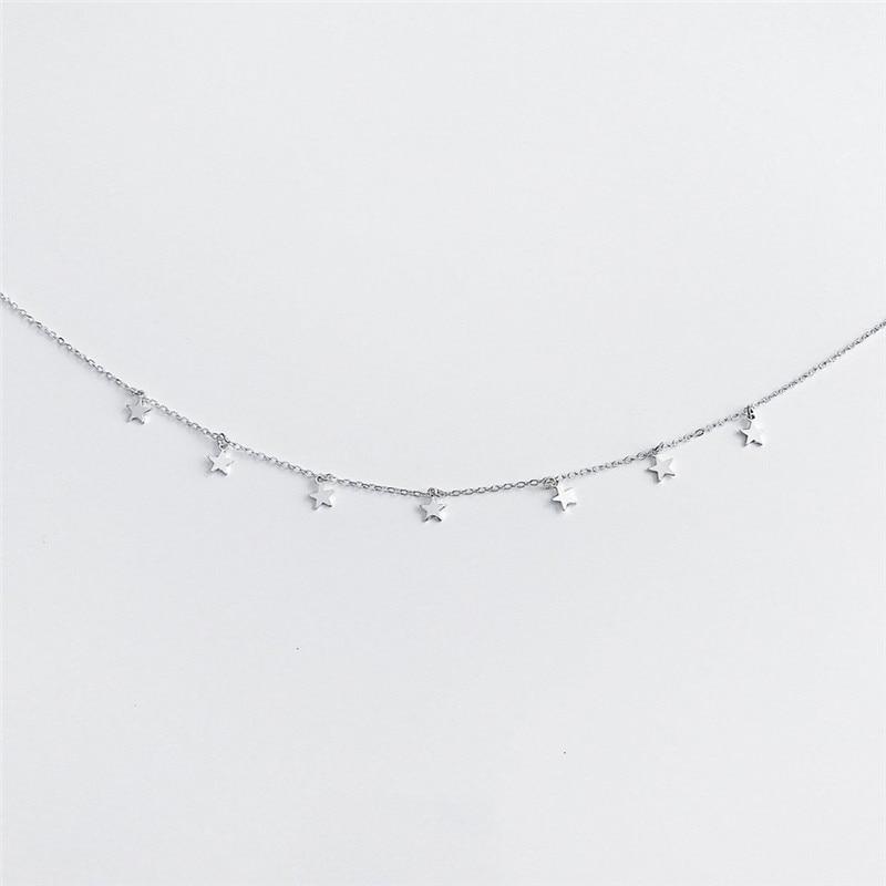 Star Necklace Women Choker Kolye Gold Silvery Moon Necklaces Boho Pendants Collier Femme Chain Collar collares de moda 2019 G2 3