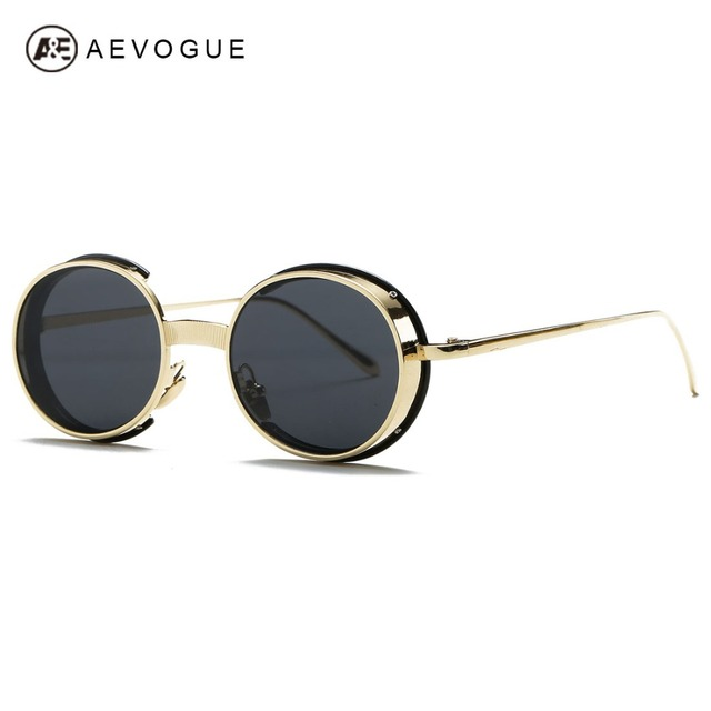 AEVOGUE Sunglasses Women Brand Designer Oval Copper Frame Summer Style Coating Lens Sun Glasses UV400 With Box AE0463