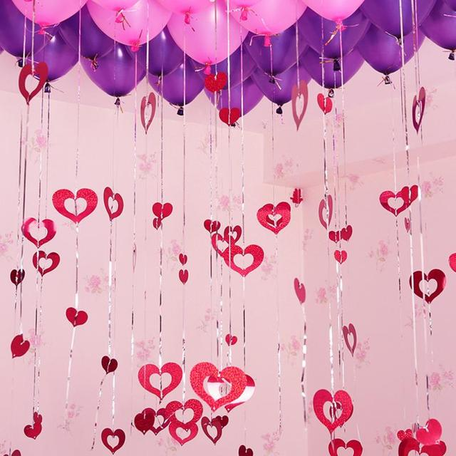 100pcs diy balloon garland wedding decoration halloween christmas 100pcs diy balloon garland wedding decoration halloween christmas colorful balloon hanging heart latex curtain garlands junglespirit Images