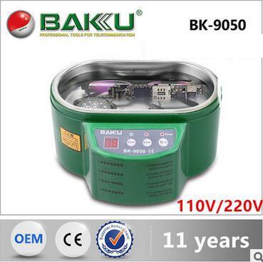 где купить BK - 9050 ultrasonic cleaning machine chip clock and watch dentures mobile phone glasses jewelry cleaners 110V/220V дешево