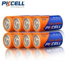 8 adet/grup PKCELL C LR14 Pil AM2 CMN1400 E93 Süper Alkalin pil 1.5 v Duman Dedektörü Için LED Işıkları Tıraş Makinesi kablosuz