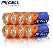 8pcs/lot PKCELL C LR14 Battery AM2 CMN1400 E93 Super Alkaline Batteries 1.5v For Smoke Detector LED Lights Shaver Wireless