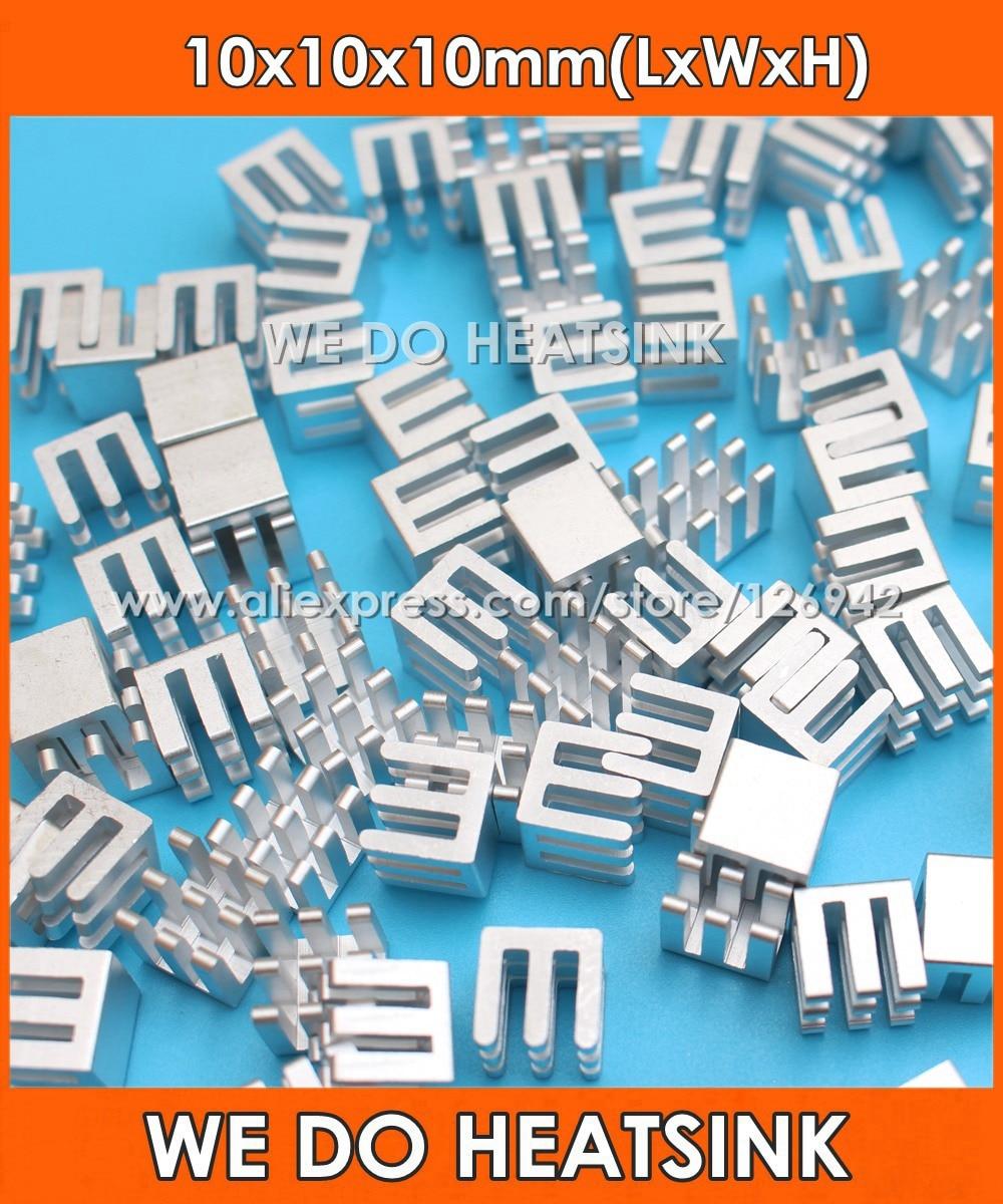 WE DO HEATSINK Silver 10x10x10mm Aluminum Heat sink IC Memory Chip Heatsink Cooling Cooler 5pcs pack aluminum heat sink for memory chip ic 14 14 6mm r179 drop shipping