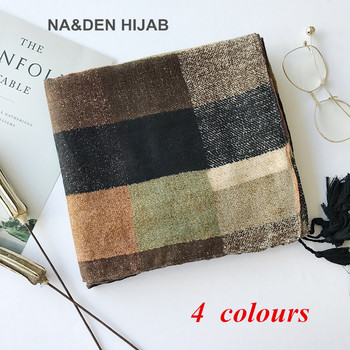 New autumn/winter European and American style Plaid scarves Hand hang silk scarves Simple elegant long style warm shawl 10pcs фото