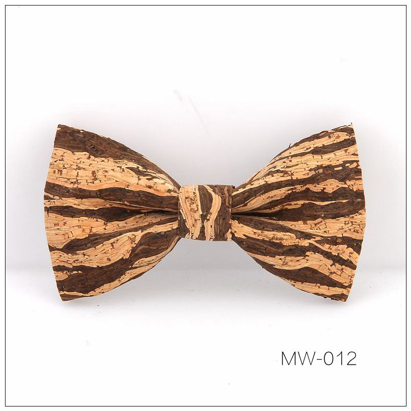 New Handmade Wooden Cork Bamboo Bow Tie Bowtie Men's Cravat 60