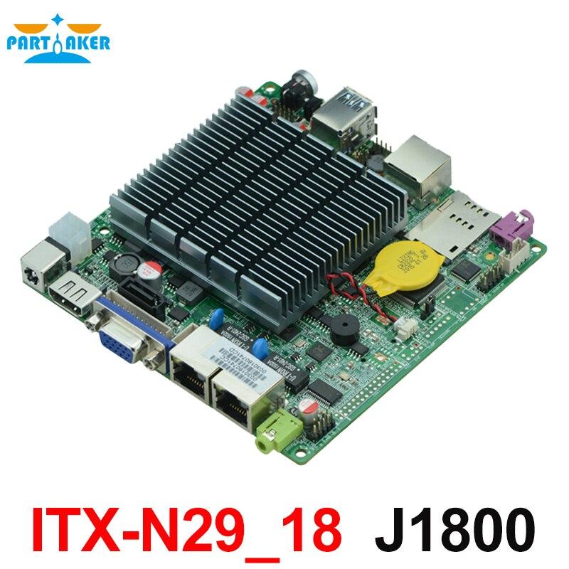 12*12cm Baytrail Motherboard with Dual Lan Quad Core Mainboard J1800 Nano ITX Motherboard OEM ITX-N29_18 12 12cm baytrail motherboard with dual lan quad core mainboard j1800 nano itx motherboard oem itx n29 18