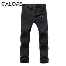 CALOFE Winter Sport Hiking Pants Men Softshell Fleece Outdoor Waterproof Tactical Snow Gym Trousers Extra XXXL Z30