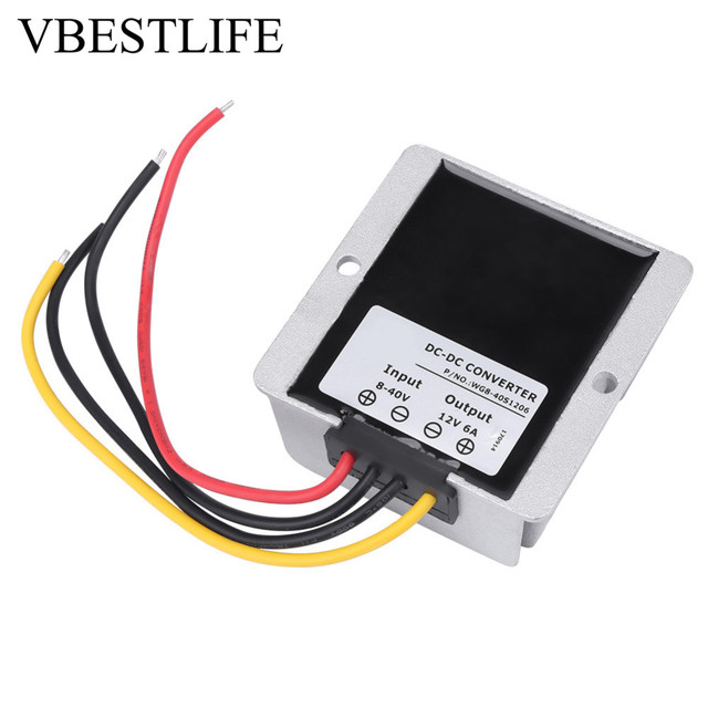 dc 8v~40v to 12v power supply adjustable voltage regulator 6a 72w