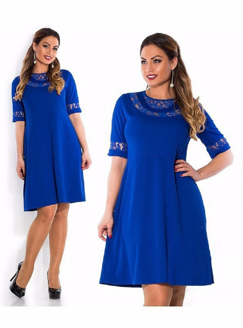 2016 summer lace dress plus size clothing big size