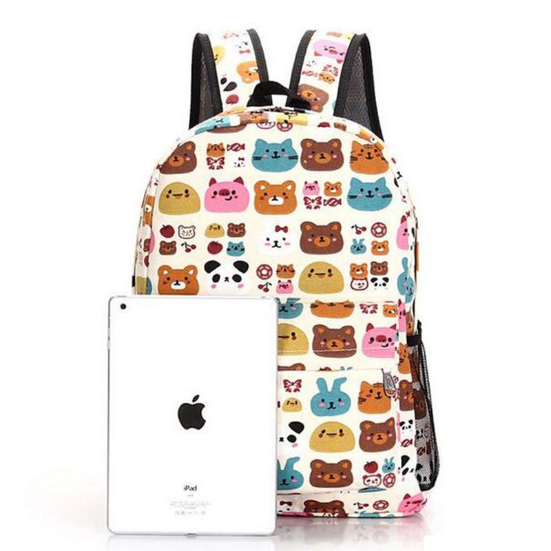 Senkey stijl 2017 canvas afdrukken rugzak vrouwen schooltassen voor - Rugzakken - Foto 6