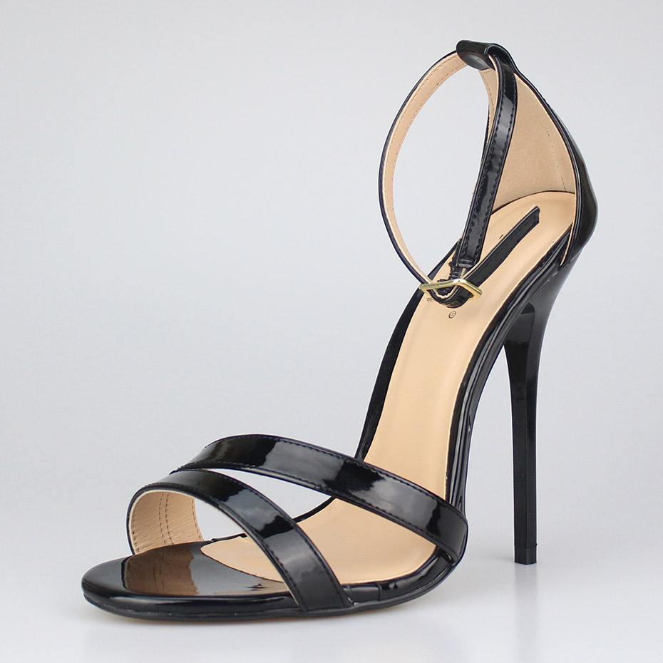 SURU Sexy Strap Sandals Heels Women Large Size Shoes Patent Black Red High  Heels Sandals Big Size 11 12 13 14 15-in High Heels from Shoes on  Aliexpress.com ... 1568fdc347dc