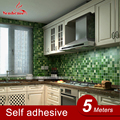 5Meters/Lot Kitchen Vinyl Wall Stickers Waterproof Self Adhesive Bathroom Wall Decals Home Decor Mosaic Tile PVC Wallpaper Roll