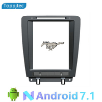 10.2 inches Vertical Screen Android 7.1 Quad Core Car Multimedia player GPS Navi for Ford Mustang 2010 2014