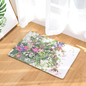 Image 4 - CAMMITEVER Lavender Dandelion Rose Cactus Rose Area Rug Kitchen Mat Entry Way Bath Doormat Bedroom Carpet Machine Washable