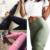 2017 Mujeres del Resorte Geometría de Impresión de Alta Cintura Leggings Deportivos de Secado rápido Pantalón Elástico Entrenamiento Leggings Gimnasio Pantalones Para Las Mujeres