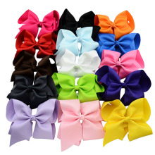 15pcs/lot 6″Big hair bows Grosgrain ribbon Sweet Boutique Bow Pretty Girls hairpins barrette headwear children hair accessories